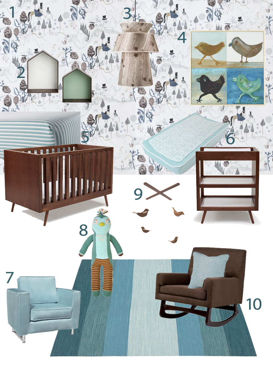 My Modern Nursery 78 My Urban Child Walnut Woodland