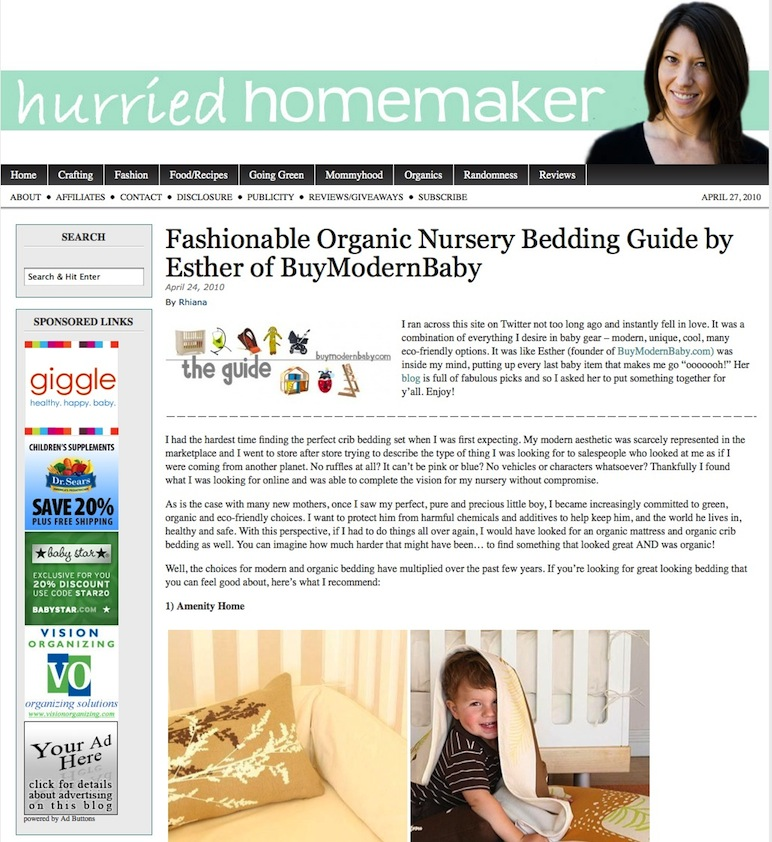 Hurried Homemaker Guest Post