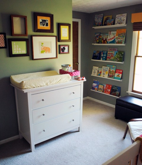 Real room tour Nursery chest of drawers with changer