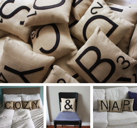 Etsy Find: Scrabble Tile Pillows « buymodernbaby.
