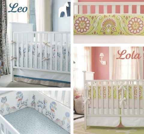 New serena lily crib bedding meet leo and lola for Serena and lily baby girl bedding