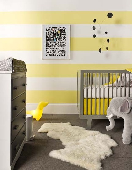 Gray And Yellow Nursery Get The Look