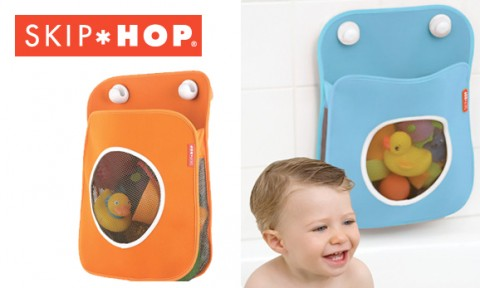 The Tubby Bath Toy Organizer from Skip Hop is a mesh and neoprene bag ...