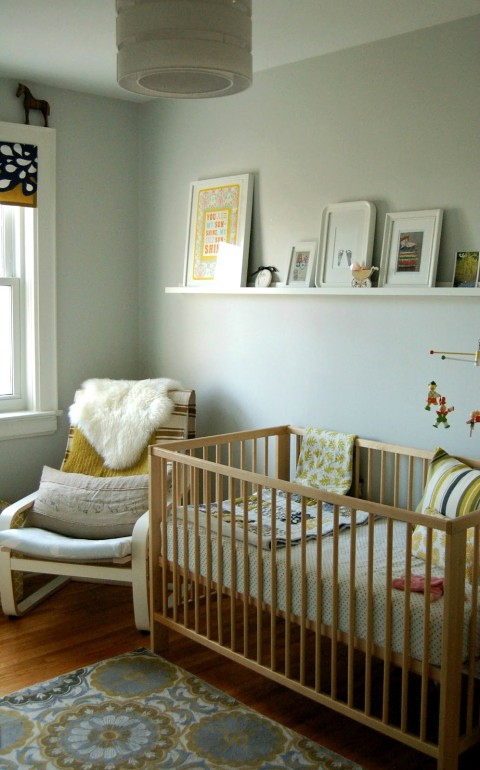 Real room tour lucy s lovely lodging Calming colors for baby nursery