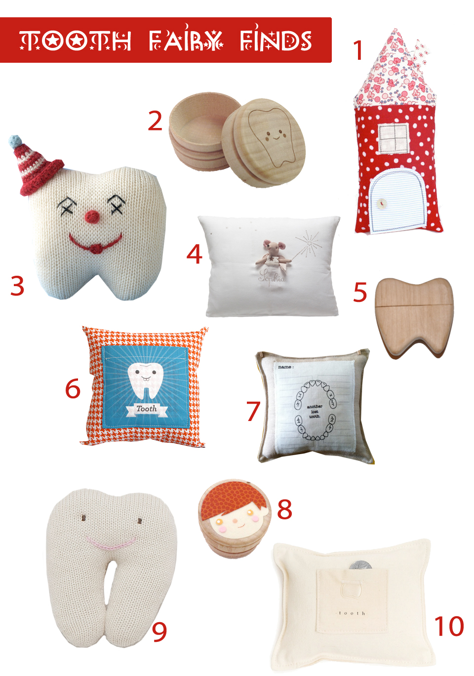 Top 10 tooth fairy finds