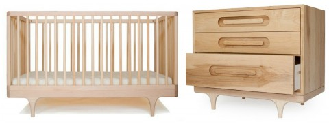Caravan Crib and Dresser Oiled Finish