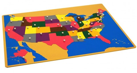 Back To School Wooden Usa Puzzle Buymodernbaby
