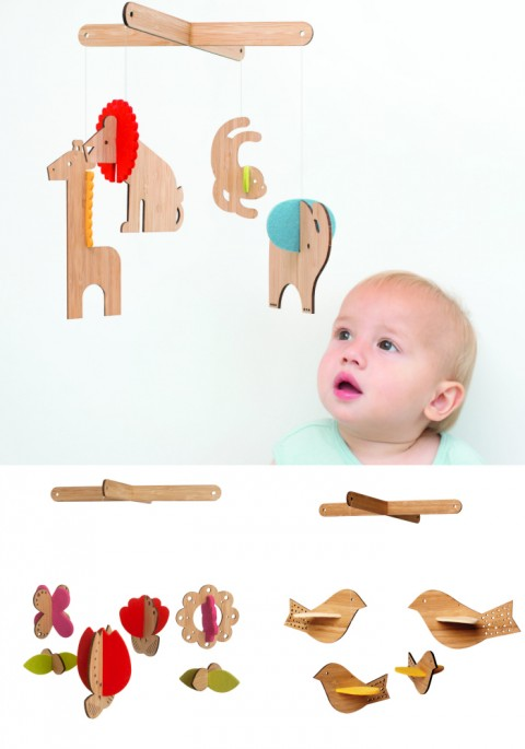 Petit Collage new Deluxe Bamboo Mobiles