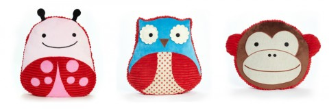 Skip Hop zoo Throw Pillows Ladybug, Owl and Monkey