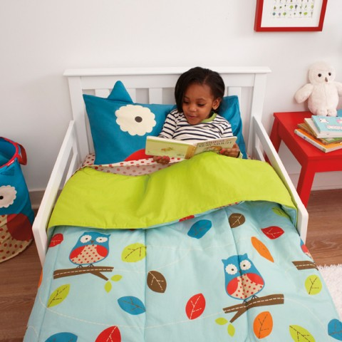 Owl Toddler Bedding Set