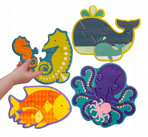 Petit Collage Ocean Babies Beginner Puzzle