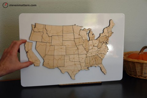 USA Map Puzzle - Continental Interstate Highway System