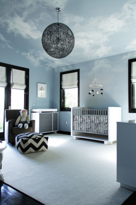 With Darker Tones And A Masculine Flavor I Wasn T Surprised That This Baby Boy S Nursery Was Created For First Time Single Dad Dark Wood Floors