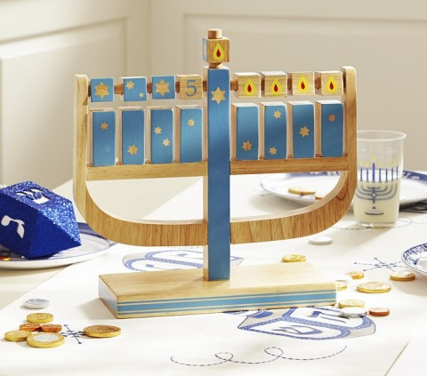 Play Menorah from Pottery Barn Kids