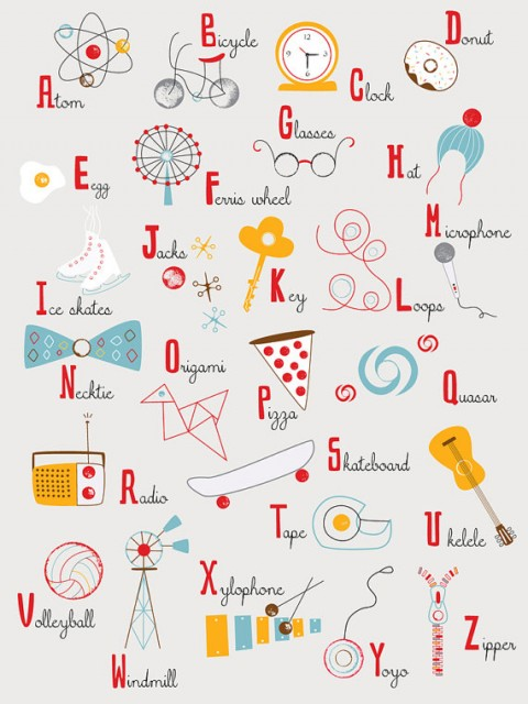 Rubber Stamp Alphabet from lisa de john
