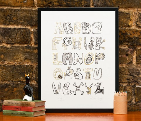 Animal Alphabet Print from Wetpaint Art