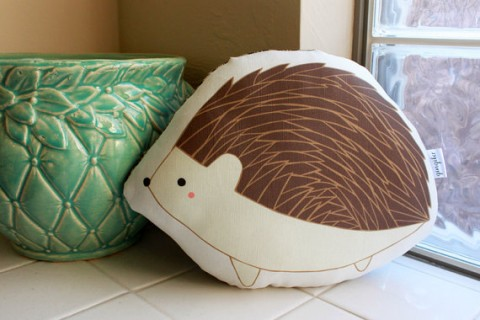 Gingiber hedgehog pillow