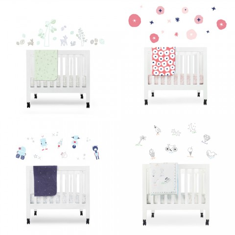 Babyletto Mini Cribs Bedding and Decals