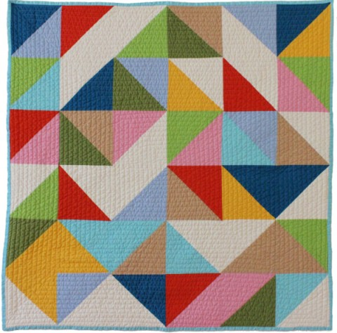 Abstract modern baby quilt multi from Bunch & Rosa