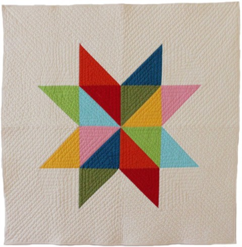 star baby multi modern quilt from Bunch & Rosa