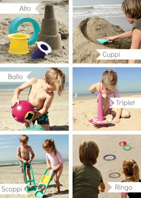 Quut Kid-O toys at the Beach