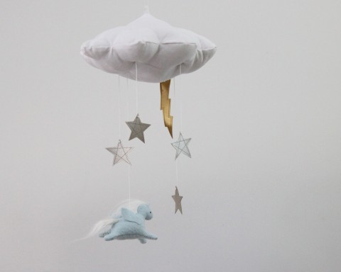 Imaginary Worlds // Pegasus Cloud in Blue and Silver