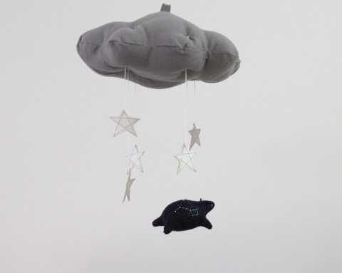 Imaginary Worlds // Ursa Minor Bear Cloud in Gray and Silver