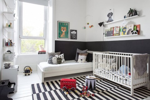 Ollie & Sebs House Black and White Nursery