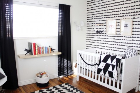 Finn's black and white nursery