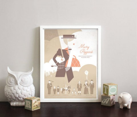 Mary Poppins print from Obsessivision