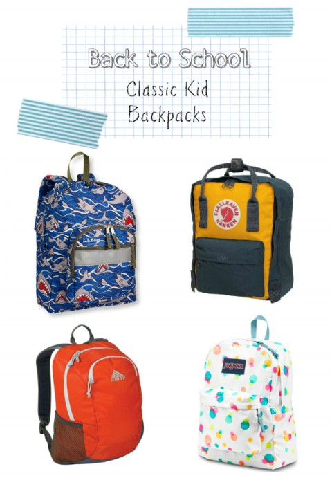 Classic Toddler Kids Preschool Backpacks