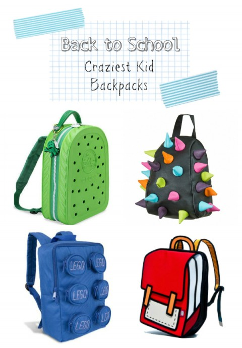 Crazy Toddler Kids Preschool Backpacks