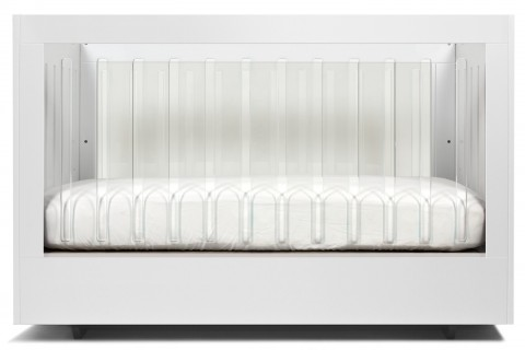 Roh Crib-White-2 Sided Acrylic-Front