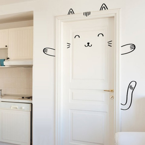 Sisi the Smug Cat Door Decal from Made of Sundays