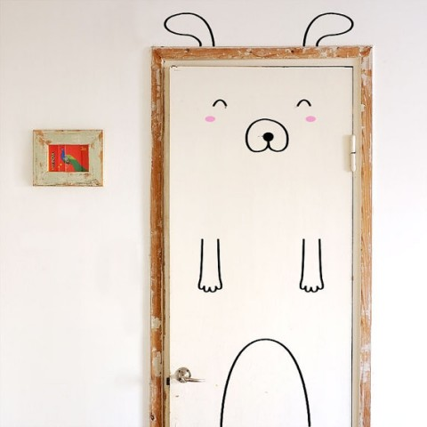 Simon the Sunny Dog Door Decal from Made of Sundays