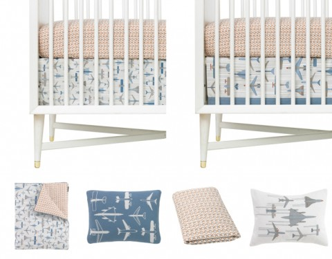 Flight Crib Bedding DwellStudio