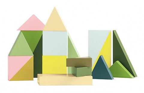 Wooden Wonderland Building Block Set Designed by Lee Storm for Hay