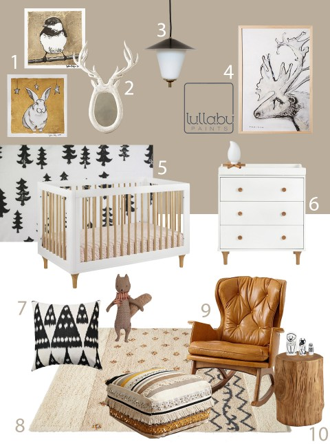 My Modern Nursery 91Winter Woodland Lullaby Paints