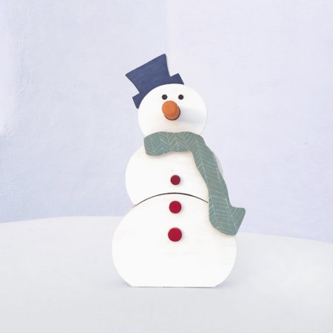 Christmas wooden toy - eco friendly wooden snowman, toddler toy