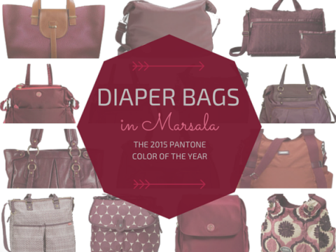 Marsala Diaper Bags  2015 Pantone Color of the Year Baby Gear