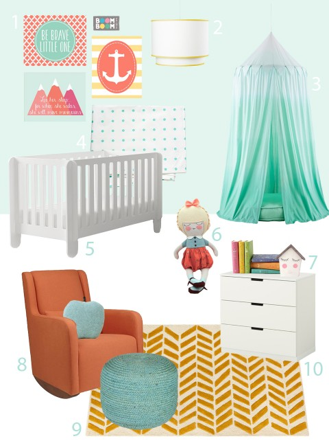 My Modern Nursery 92 Inspired by The Lion & The Lark Boom Boom Prints