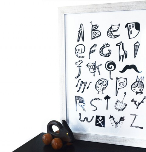 Black and White Alphabet from Wee Gallery