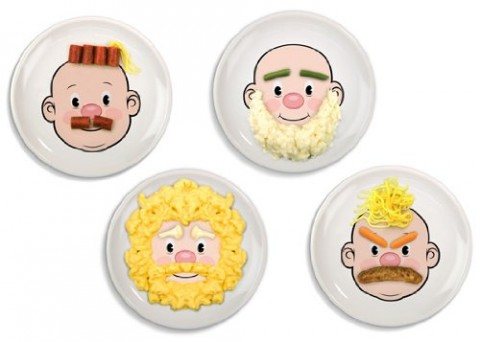 Fred and Friends Food Face dinner plate