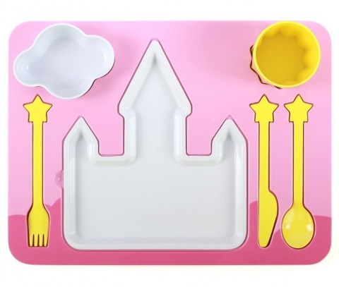 """Princess Castle"" Melamine Kids Dinner 7-piece Set"