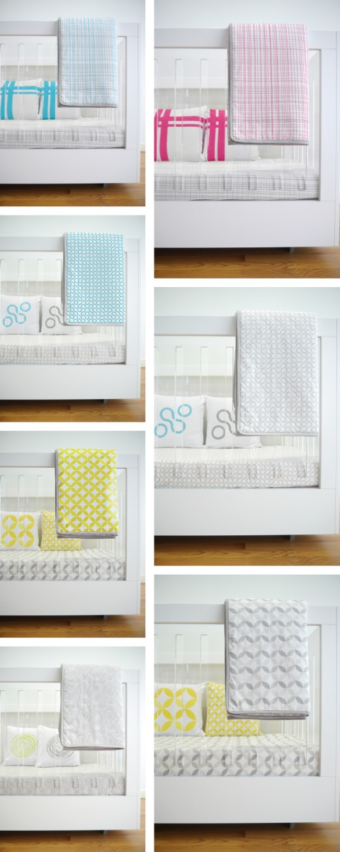 Spot on Square Crib Bedding Combinations