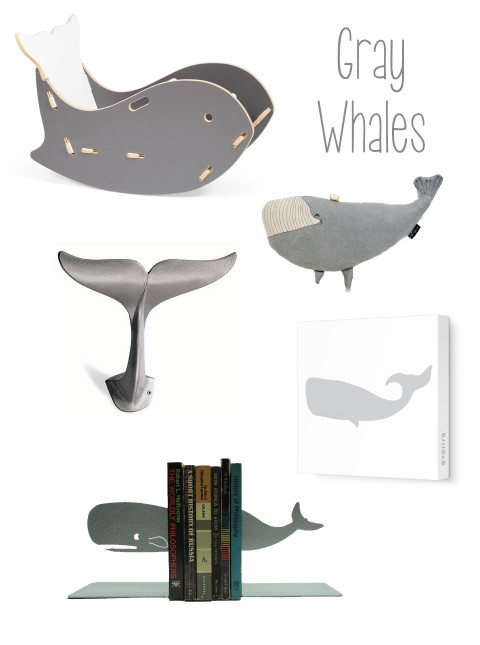 Gray Whales featuring Sprout Whale Chair