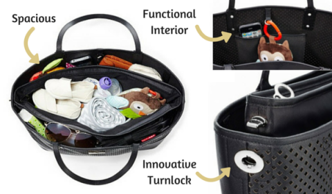 Skip Hop Duet Diaper Bag Innovative Turnlock