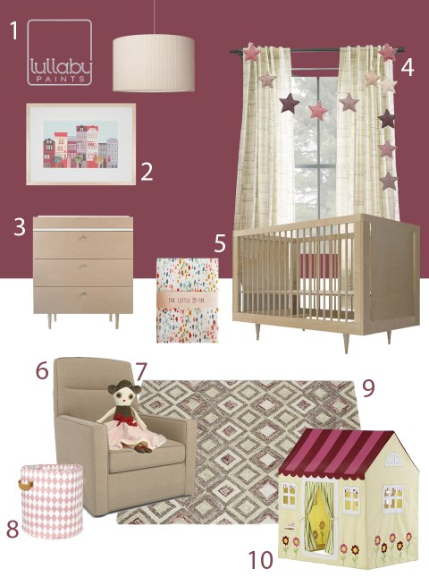 My Modern Nursery 96 Plum Berry