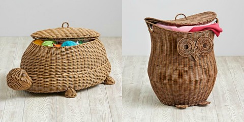 Woven hampers toy box