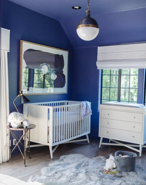 Tiffani Thiessen Star Wars Nursery DwellStudio Blue photo by Rebecca Sanabria